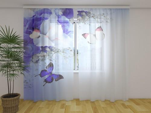 """Dieninė foto užuolaida """"  Blue Irises"""""""