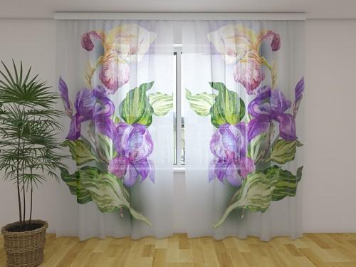 """Dieninė foto užuolaida """"Airy Irises"""""""