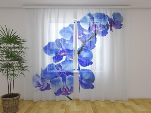 """Dieninė  užuolaida """"Mėlyna orchidėja"""""""