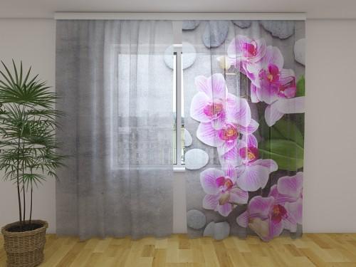 """Dieninė  užuolaida """"Rožinės orchidėjos"""""""