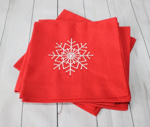 """Kalėdines siuvinėtos servetėles """"snaigė2"""""""