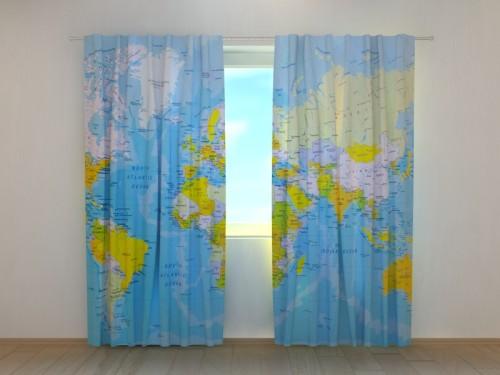 """Naktinės užuolaidos """"Pasaulio žemėlapis"""""""