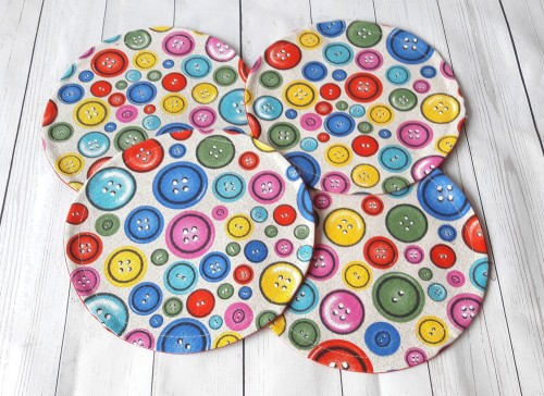 Stalo servetėlės apvali su sagutėmis
