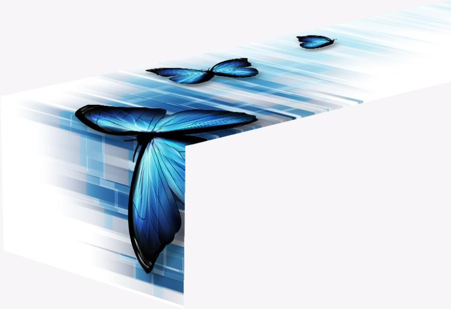 """Staltiesė takelis""""Blue Butterflies"""""""