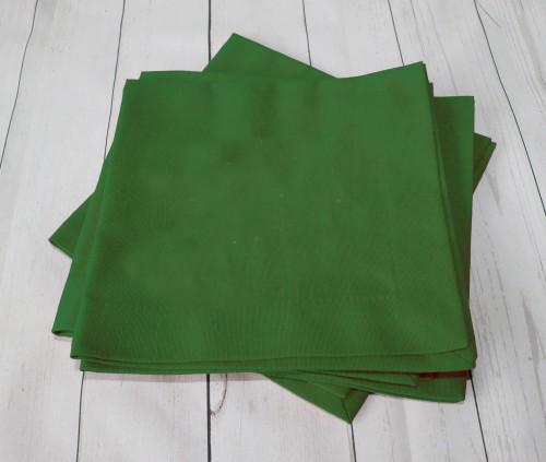 Žalios  tekstilinės servetėlės